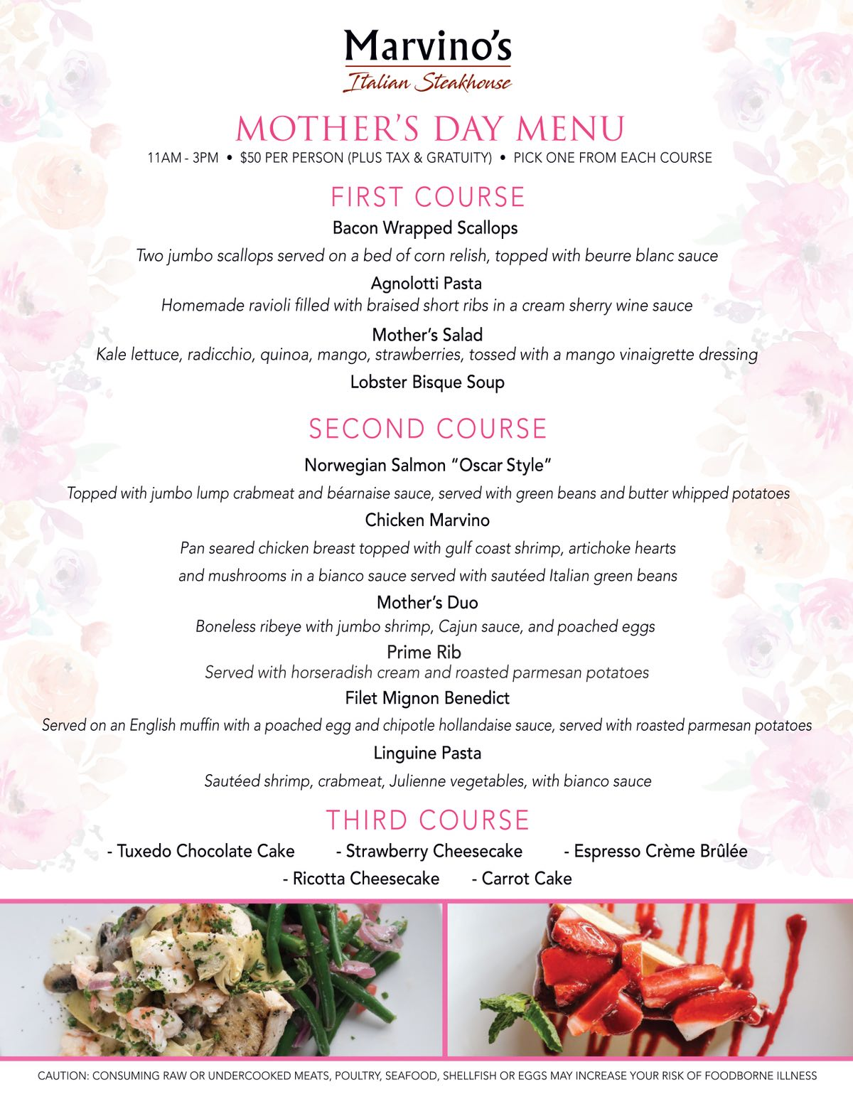 Join us at Marvino's for Mothers Day